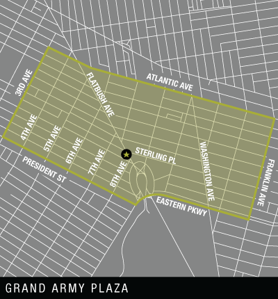 Map of Grand Army Plaza Delivery Area