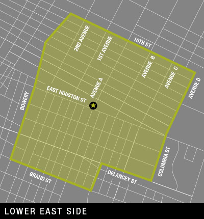 Map of Lower East Side Delivery Area