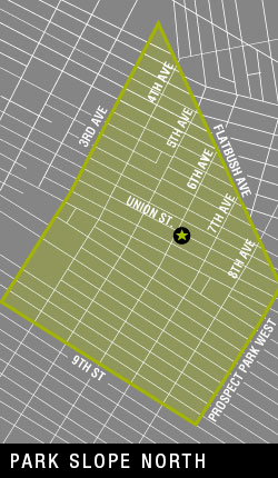 Map of Park Slope North Delivery Area
