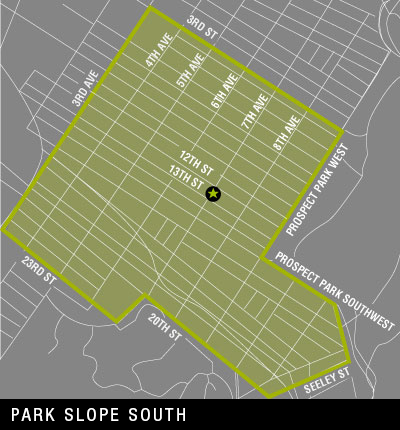 Map of Park Slope South Delivery Area