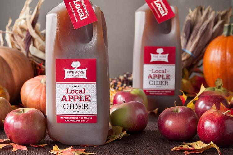 Union Market Five Acre Farms Local Apple Cider