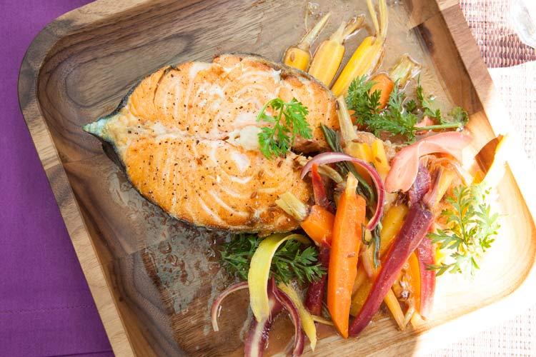 Union Market Salmon with Rainbow Carrots recipe