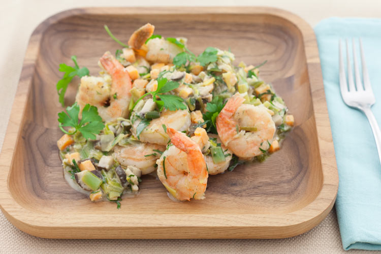 Recipe: Pan-Roasted Shrimp with Leeks and Goat Cheese - Union Market