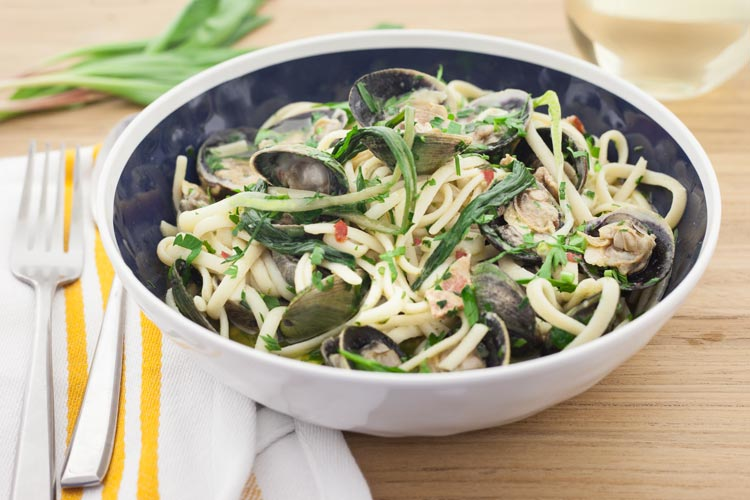 Union Market Recipe - Linguine with Ramps and Cockles