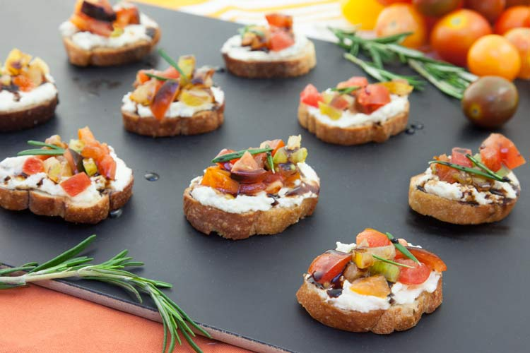 Union Market Recipe - Tomato, Rosemary and Ricotta Crostini