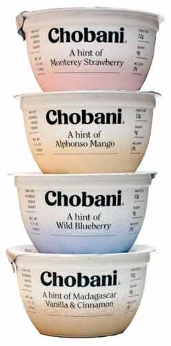 "Chobani ""A Hint of Flavor"" Greek Yogurt"