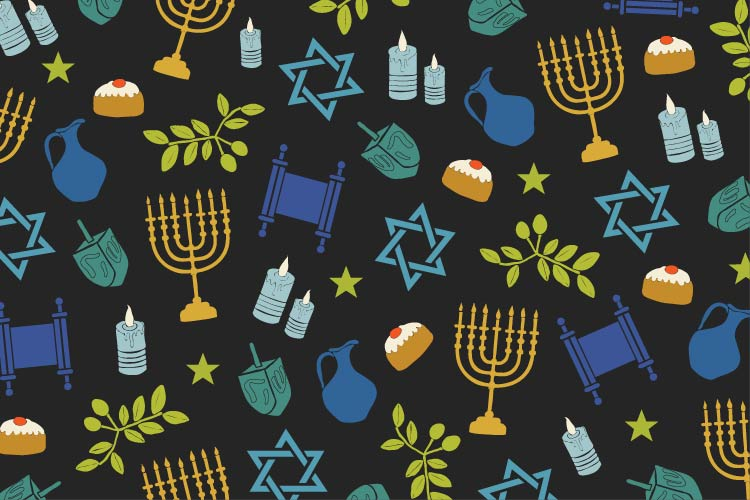 Union Market Hanukkah illustration