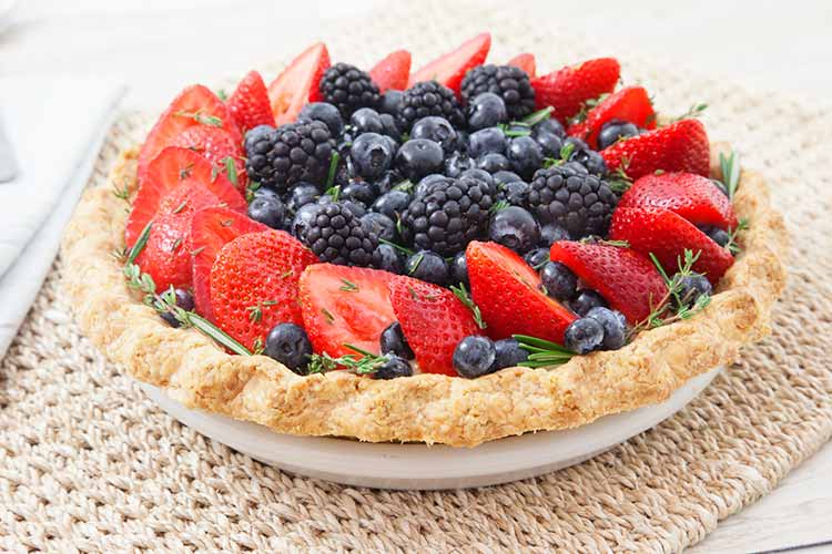 Union Market recipe - Summer Berries-Tart-with Rosemary and Thyme