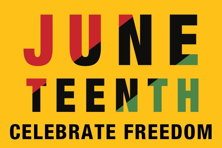 Union Market - Juneteenth text graphic - Celebrate Freedom