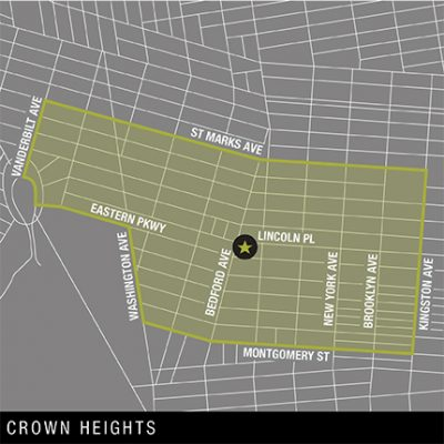 Map of Crown Heights Delivery Area