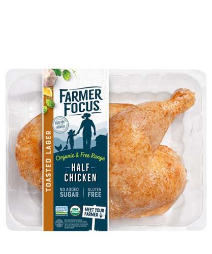 Farmer Focus Marinaded Organic Half Chicken